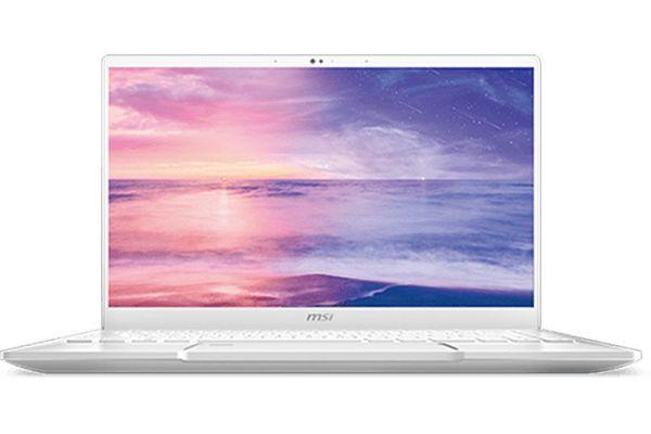 "Large image of MSI Prestige 14 White 14"" Gaming Laptop Intel i7-10710U 16GB RAM 512GB SSD, NVIDIA GeForce GTX 1650 Max-Q - PRESTIGE14051"