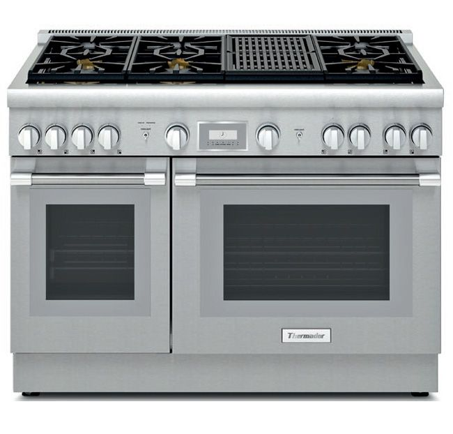 Thermador 48 Professional Series Pro Harmony Stainless Steel Gas Range
