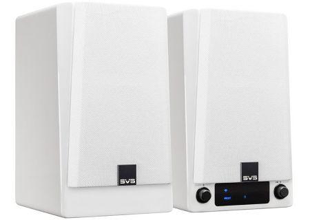 SVS Piano Gloss White Prime Wireless Speaker System (Pair) - PRIMEWIRELESSSYSWH