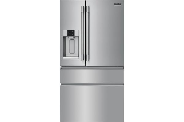 Large image of Frigidaire Professional 21.8 Cu. Ft. Smudge-Proof Stainless Steel Counter Depth 4-Door French Door Refrigerator - PRMC2285AF
