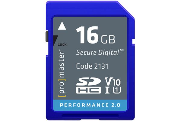 Large image of ProMaster Performance 2.0 16GB SDHC Memory Card - PRO2131