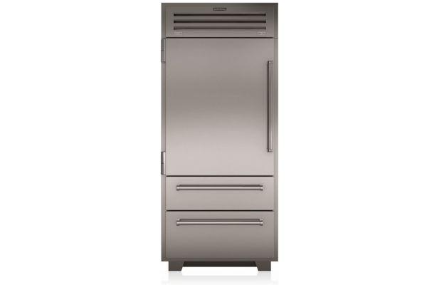"Large image of Sub-Zero 36"" PRO Stainless Steel Left-Hinge Built-In Bottom Freezer Refrigerator - PRO3650LH"