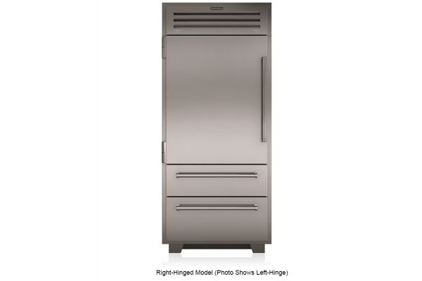 "Large image of Sub-Zero 36"" PRO Stainless Steel Right-Hinge Built-In Bottom Freezer Refrigerator - PRO3650RH"