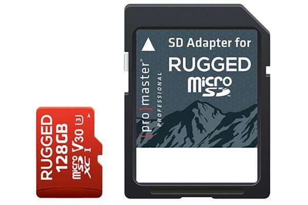 Large image of ProMaster Professional 128GB microSDXC V30 Rugged Memory Card - PRO5379