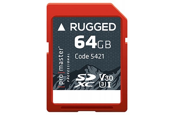 Large image of ProMaster Professional 64GB SDXC 600X Rugged Memory Card - PRO5421