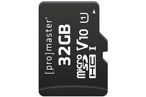 Large image of ProMaster Performance 2.0 32GB microSDHC Memory Card - PRO7269