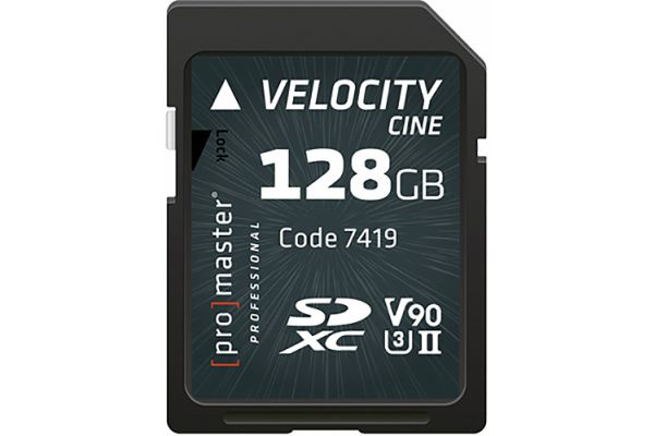 ProMaster Professional Velocity CINE 128GB SDXC Memory Card - PRO7419