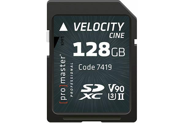 Large image of ProMaster Professional Velocity CINE 128GB SDXC Memory Card - PRO7419