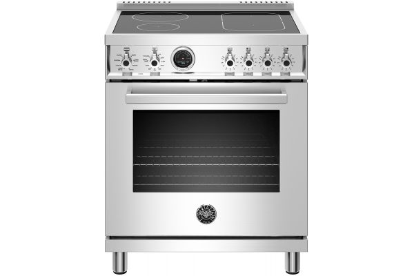 """Large image of Bertazzoni Professional Series 30"""" Stainless Steel Self-Clean Induction Range - PROF304INSXT"""