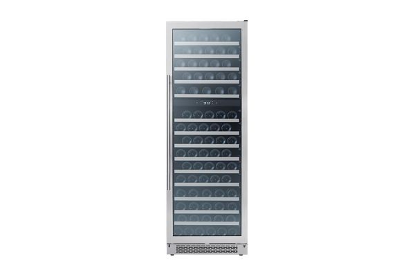 "Large image of Zephyr 24"" Stainless Frame Full Size Dual Zone Wine Cooler - PRW24F02BG"