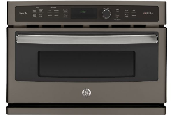 """Large image of GE Profile 27"""" Slate Built-In Single Wall Oven - PSB9100EFES"""
