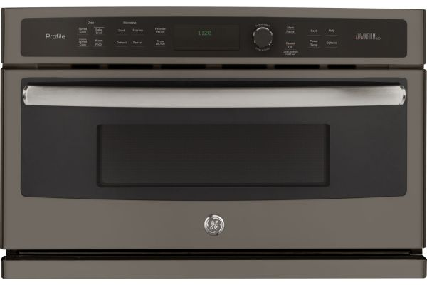 """Large image of GE Profile 30"""" Slate Built-In Single Wall Oven - PSB9120EFES"""