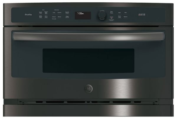"""Large image of GE Profile 30"""" Black Stainless Built-In Single Wall Oven - PSB9240BLTS"""