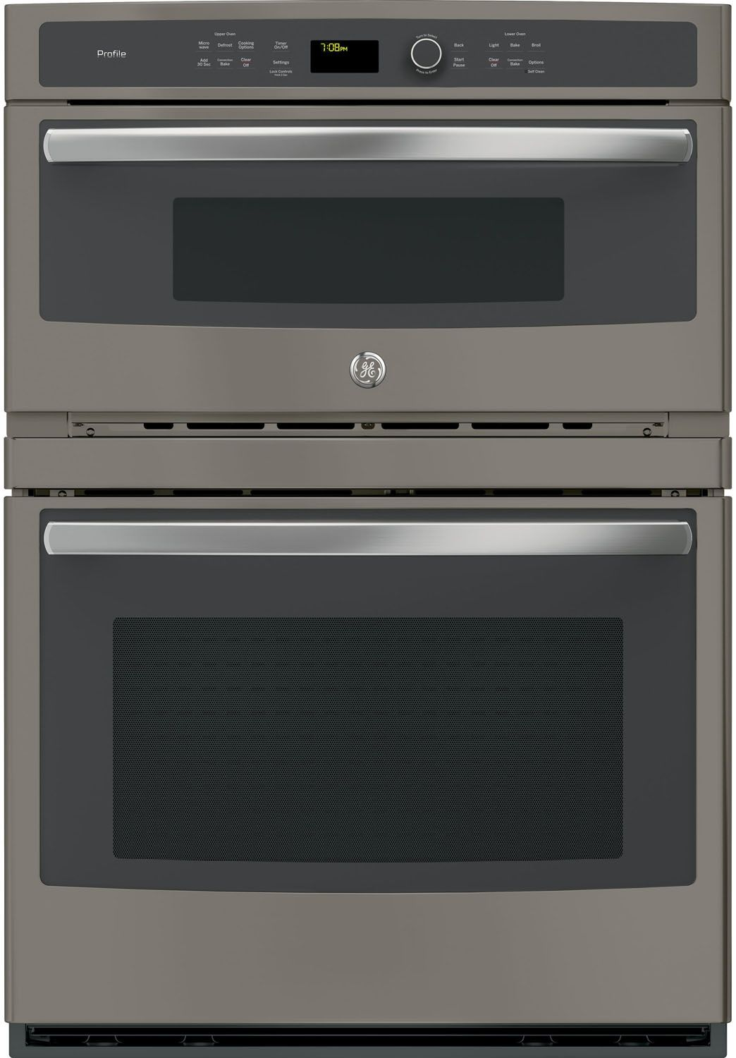 Ge profile 30 slate built in wall oven pt7800ekes for Built in microwave ovens 30 inch