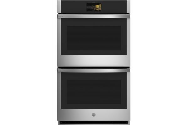 "Large image of GE Profile 30"" Stainless Steel Smart Built-In Convection Double Wall Oven - PTD9000SNSS"