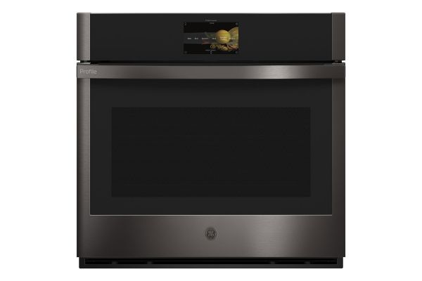 """Large image of GE Profile Series 30"""" Black Stainless Built-In Convection Single Wall Oven - PTS7000BNTS"""