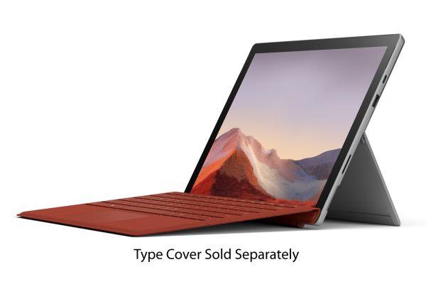 "Large image of Microsoft Surface Pro 7 12.3"" 256GB i5 Platinum Tablet Computer - PUV-00001"