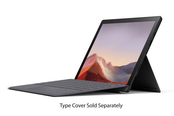 "Large image of Microsoft Surface Pro 7 12.3"" 256GB i5 Matte Black Tablet Computer - PUV-00016"
