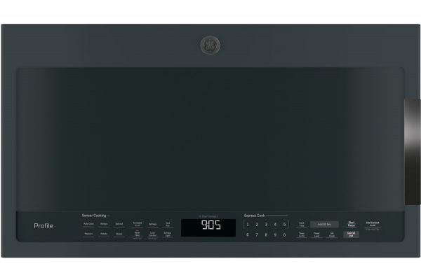 Large image of GE Profile 2.1 Cu. Ft. Black Slate Over-The-Range Sensor Microwave Oven - PVM9005FMDS