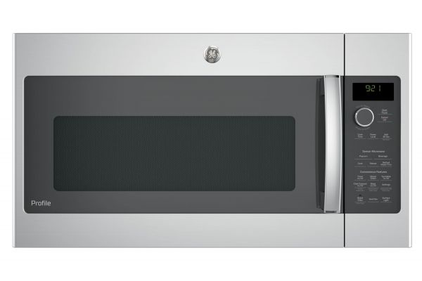 Large image of GE Profile Stainless Steel Over-The-Range Microwave Oven - PVM9215SKSS
