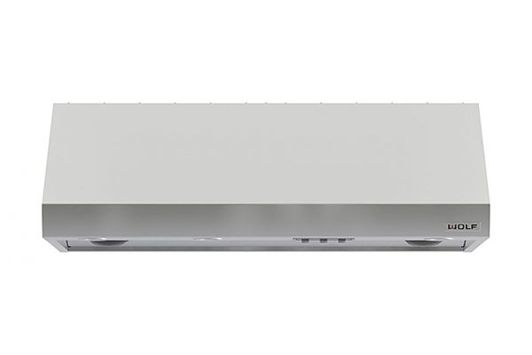 """Large image of Wolf 54"""" Stainless Steel 27"""" Depth Pro Wall Hood - PW542718"""