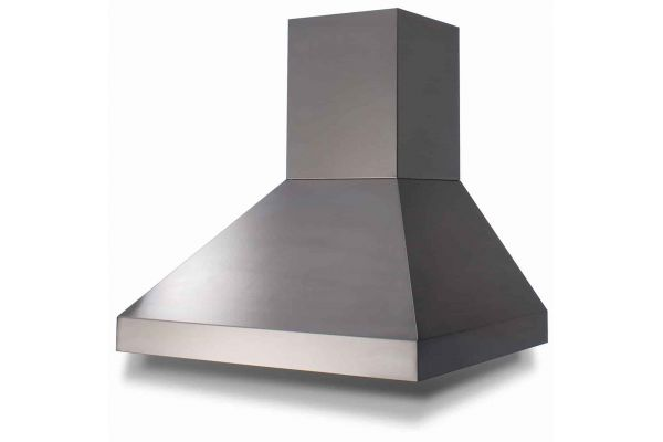 """Large image of BlueStar 48"""" Stainless Steel Pyramid Style Wall Hood - PY048ML"""