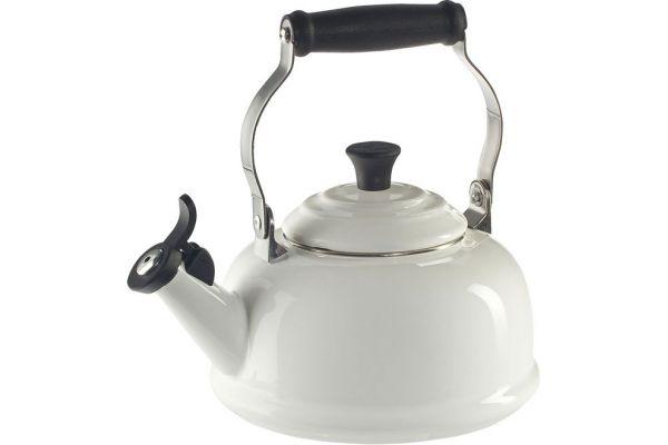 Large image of Le Creuset 1.7 QT. White Whistling Tea Kettle - Q3101-16