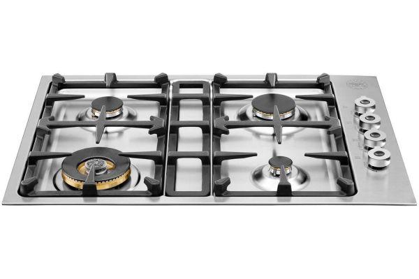 "Bertazzoni 30"" Professional Series Stainless Steel Gas Cooktop - QB30400X"