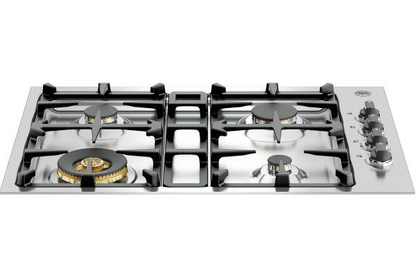 "Bertazzoni 30"" Master Series Stainless Steel Drop-In Gas Cooktop - QB30M400X"
