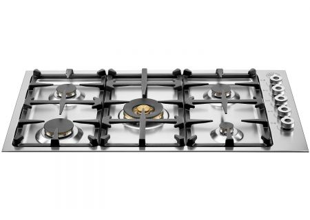 "Bertazzoni 36"" Professional Series Stainless Steel Gas Cooktop - QB36500X"