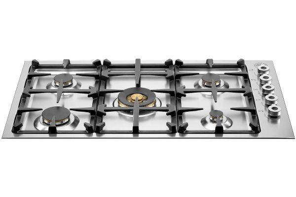 "Bertazzoni 36"" Professional Series Stainless Steel Gas Cooktop - QB36500X"