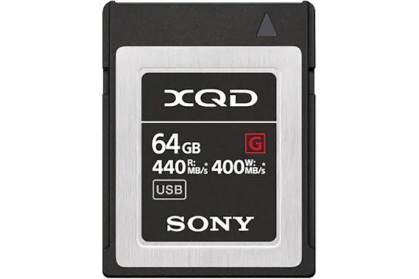 Large image of Sony 64GB XQD G Series Memory Card - QDG64F/J
