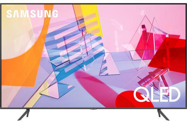 """Large image of Samsung 55"""" Q60T Titan Gray QLED 4K UHD Smart HDTV - QN55Q60TAFXZA"""