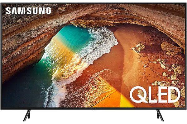 "Large image of Samsung 49"" QLED Q60R Charcoal Black QLED 4K UHD Smart TV - QN49Q60RAFXZA"