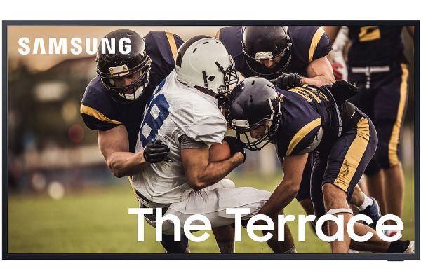 "Large image of Samsung 75"" The Terrace Black QLED 4K UHD Outdoor Smart HDTV - QN75LST7TAFXZA"