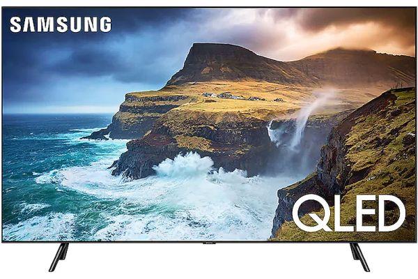 "Large image of Samsung 55"" Q70R Slate Black QLED 4K UHD Smart HDTV - QN55Q70RAFXZA"