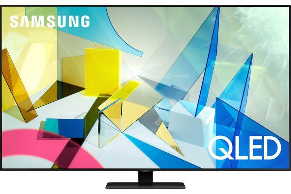"Large image of Samsung 55"" Q80T Titan Black QLED 4K UHD Smart HDTV - QN55Q80TAFXZA"