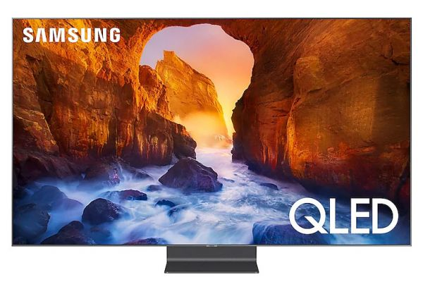 "Samsung Q90R 65"" Carbon Silver QLED 4K UHD Smart HDTV - QN65Q90RAFXZA"
