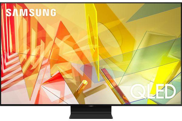 "Large image of Samsung 65"" Q90T Titan Black QLED 4K UHD Smart HDTV - QN65Q90TAFXZA"