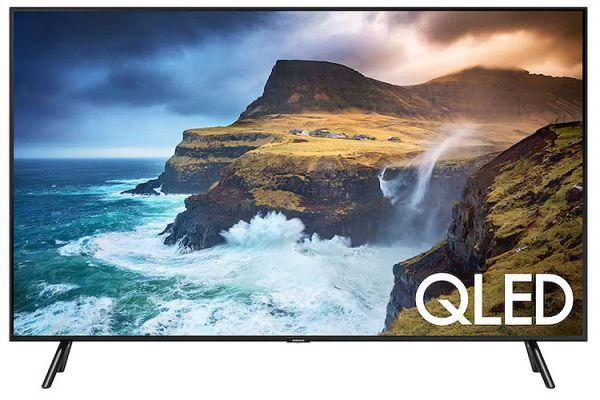 "Large image of Samsung 85"" Class Q70R Black QLED Smart 4K UHD TV - QN85Q70RAFXZA"