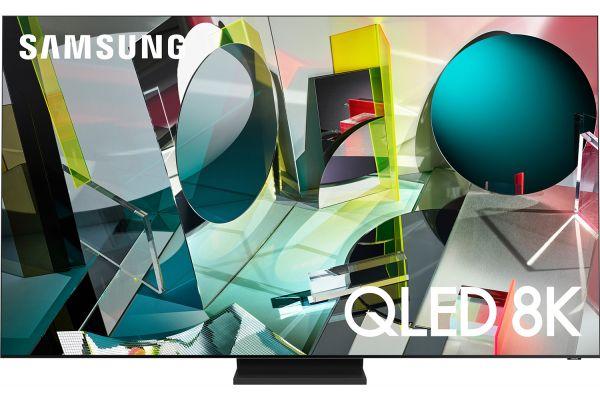 "Large image of Samsung 85"" Q900TS Stainless Steel QLED 8K UHD Smart HDTV - QN85Q900TSFXZA"