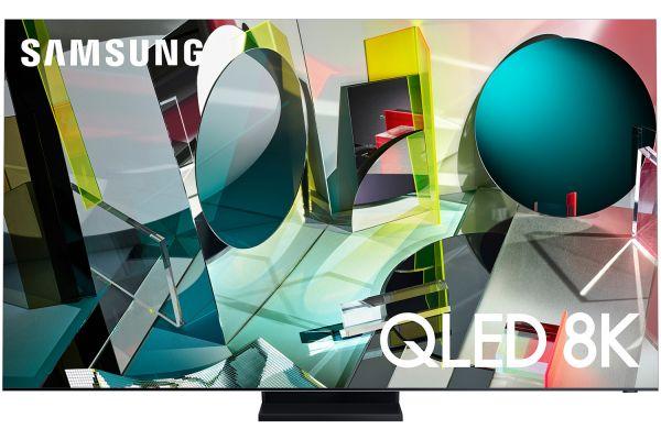 "Large image of Samsung 85"" Q950TS Stainless Steel QLED 8K UHD Smart HDTV - QN85Q950TSFXZA"
