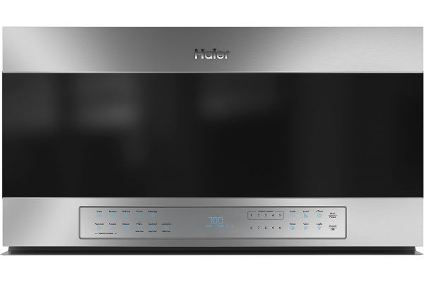 """Large image of Haier 30"""" 1.6 Cu. Ft. Stainless Steel Smart Over-The-Range Microwave Oven - QVM7167RNSS"""