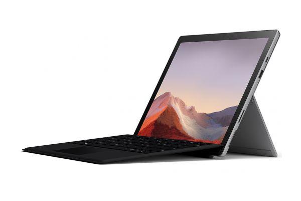 "Large image of Microsoft Surface Pro 7 12.3"" 128GB i5 Platinum Tablet Computer Bundle - QWU-00001"