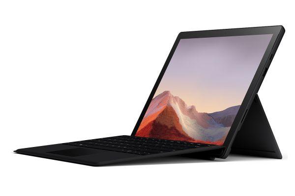 """Large image of Microsoft Surface Pro 7 12.3"""" 256GB i5 Matte Black Tablet Computer Bundle - QWV-00007"""