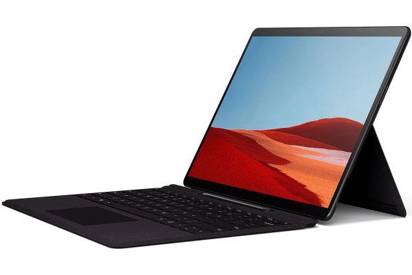 "Large image of Microsoft Surface Pro X Matte Black 13"" Touch-Screen 8GB Memory 256GB SSD WiFi + 4G LTE With Keyboard+Slim Pen Bundle - QWZ00001"