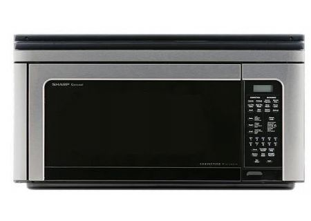 Sharp Carousel 1.1 Cu. Ft. 850W Stainless Steel Over-The-Range Convection Microwave Oven - R1881LSY
