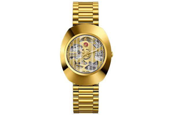Large image of Rado The Original Automatic Gold Skeleton Mens Watch - R12064253