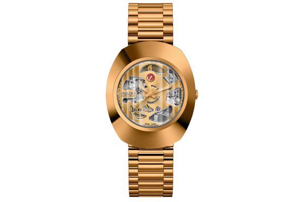 Large image of Rado The Original Automatic Gold Tone Skeleton Mens Watch - R12065403