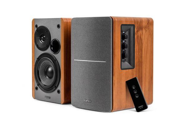 Large image of Edifier Wood Grain Powered Bookshelf Speakers (Pair) - R1280T